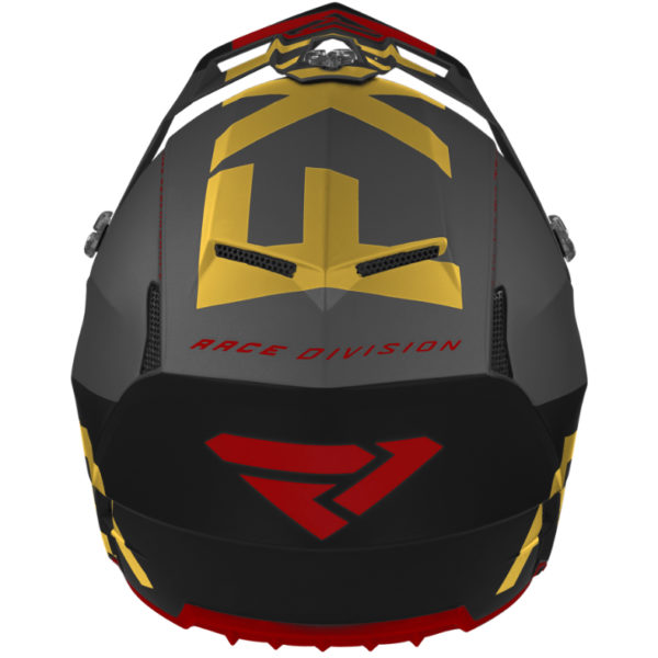 2021 FXR Clutch EVO Helmet Black/Gold/Rust - ClutchEvo Helmet BlackGoldRust 200609 Back