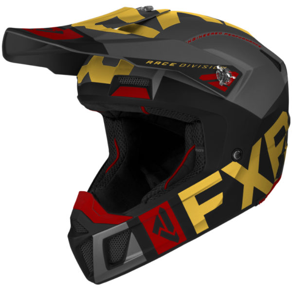 2021 FXR Clutch EVO Helmet Black/Gold/Rust - ClutchEvo Helmet BlackGoldRust 200609 frontXX