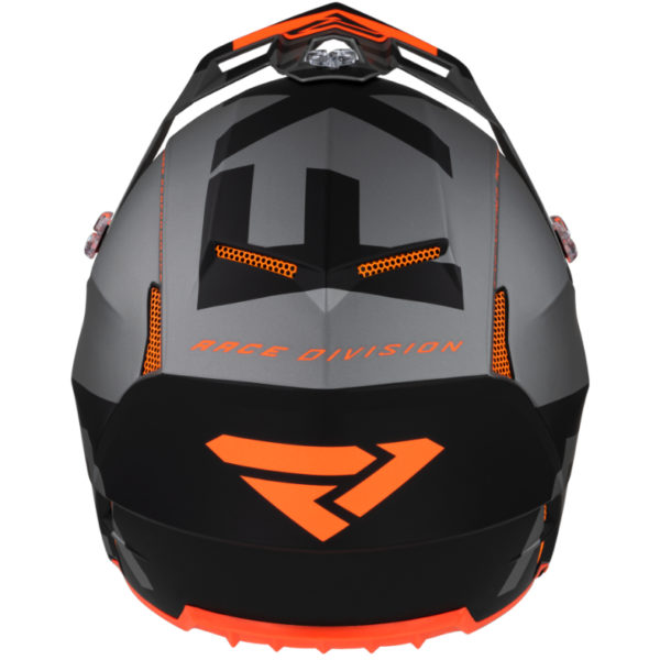 2021 fxr clutch evo helmet black/lt grey/orange - clutchevo helmet blackltgreyorange 200609  1005 back