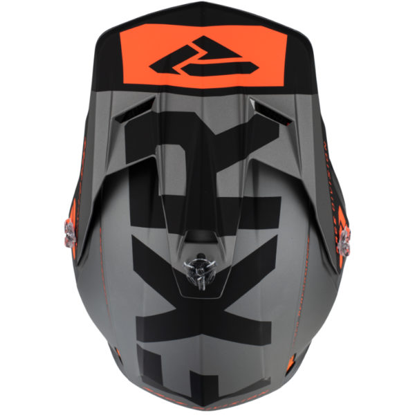 2021 fxr clutch evo helmet black/lt grey/orange - clutchevo helmet blackltgreyorange 200609  1005 top
