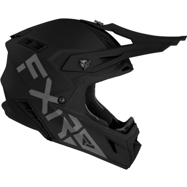2021 FXR Helium PRIME Helmet Black - HeliumPrime Helmet Black 210601 1000 right