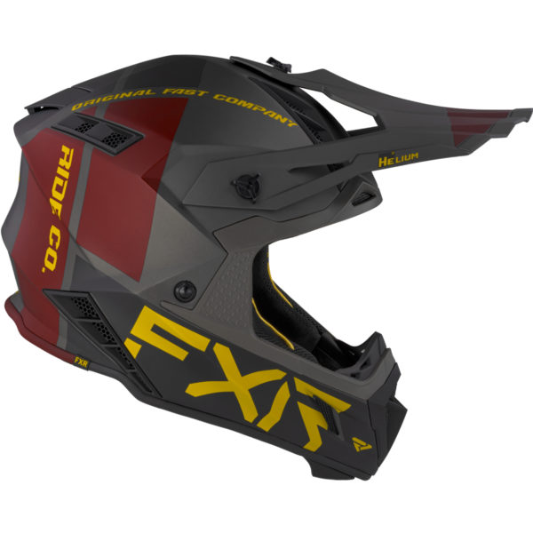 2021 FXR Helium RIDE CO Helmet Charcoal/Gold/Rust - HeliumRideCo Helmet BlackRustGold 210602 0862 right
