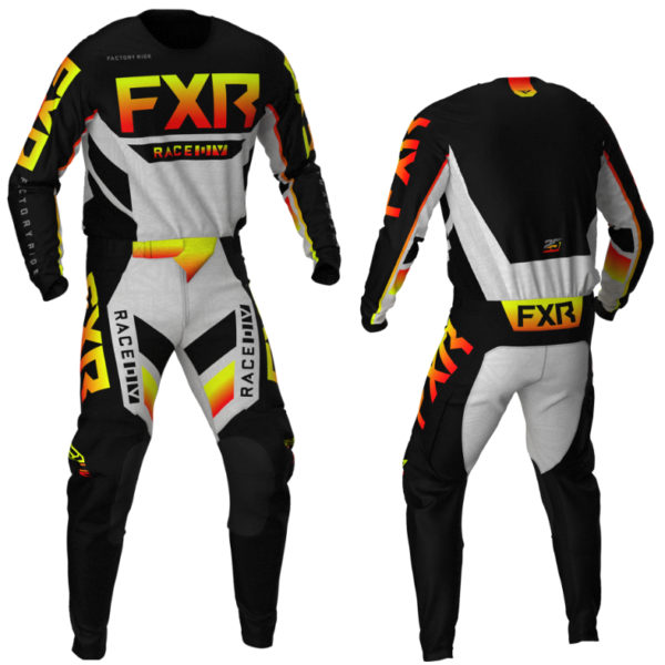 2021 fxr youth podium kit combo black/red/hi-vis/grey aztec - podium blkredvisgreyaztec combo
