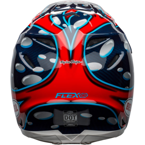 Bell moto-9 carbon flex mcgrath showtime replica helmet blue/red/black - bell moto 9 flex dirt helmet mcgrath replica gloss blue red black back