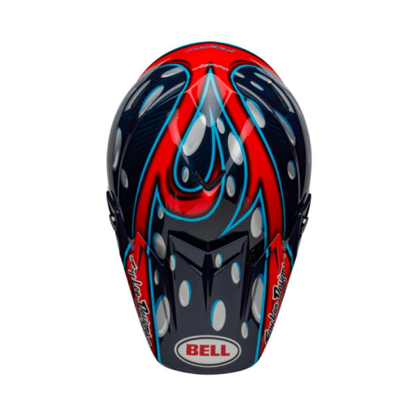 Bell moto-9 carbon flex mcgrath showtime replica helmet blue/red/black - bell moto 9 flex dirt helmet mcgrath replica gloss blue red black top