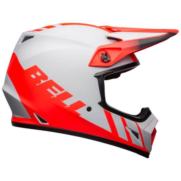 Bell MX-9 Mips Dash Helmet Grey/Infrared/Black - bell mx 9 mips dirt helmet dash matte gray infrared black right