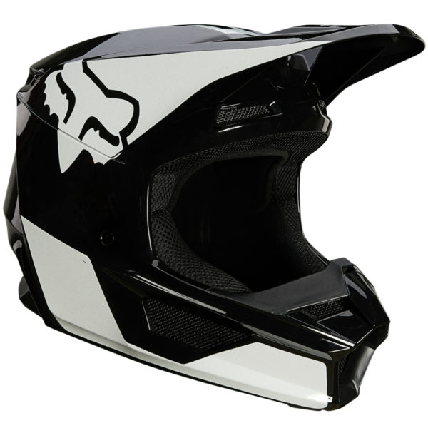 2021 Fox V1 REVN Helmet Black/White - 25819 018 1