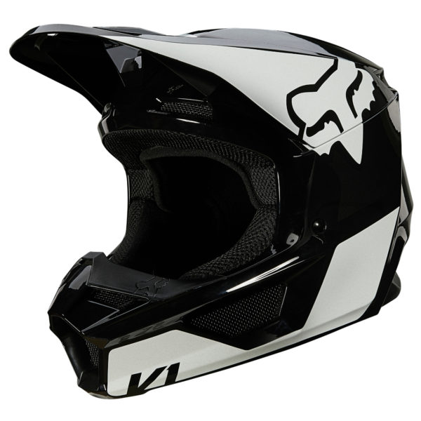 2021 Fox V1 REVN Helmet Black/White - 25819 018 2