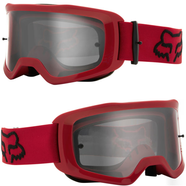2021 Fox Main II Stray Goggle Flame Red - Clear Lens - 25834 122 1c 1