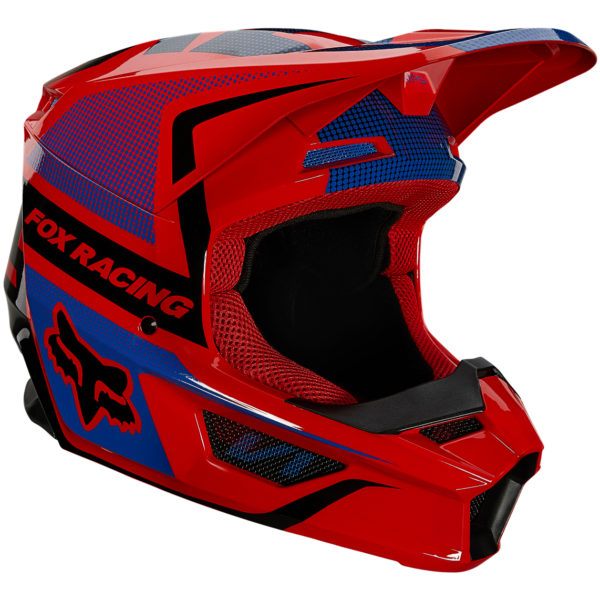 2021 Fox YOUTH V1 OKTIV Helmet Fluorescent Red - 25878 110 1