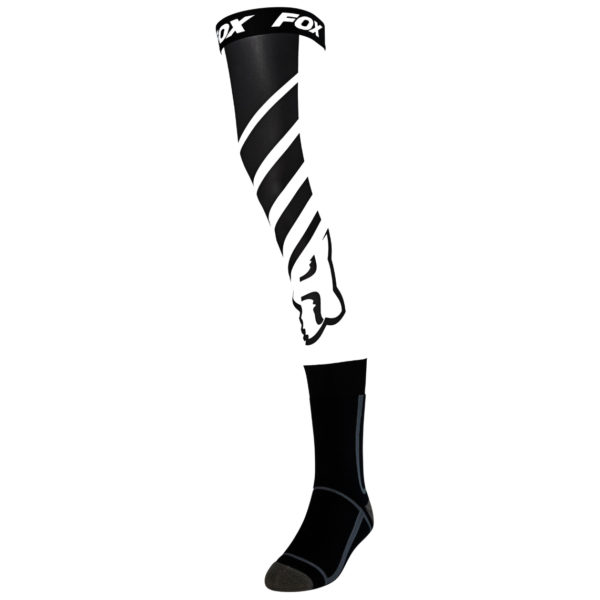 2021 fox mach one knee brace socks black/white - 25895 018 1