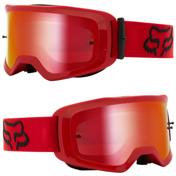 2021 fox main ii stray goggle flame red - mirrored lens - 26536 122 1c
