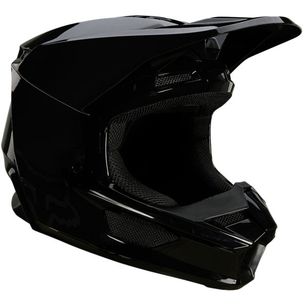2021 fox v1 plaic helmet black - 26575 001 1