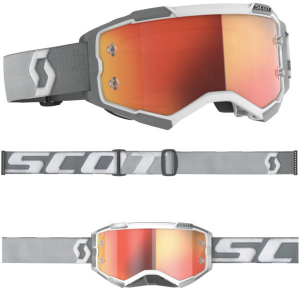 2021 Scott Fury Goggle White/Grey - Orange Chrome Lens - 2728281039280