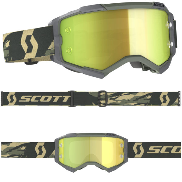 2021 Scott Fury Goggle Camo Kaki - Yellow Chrome Lens - 2728286800289