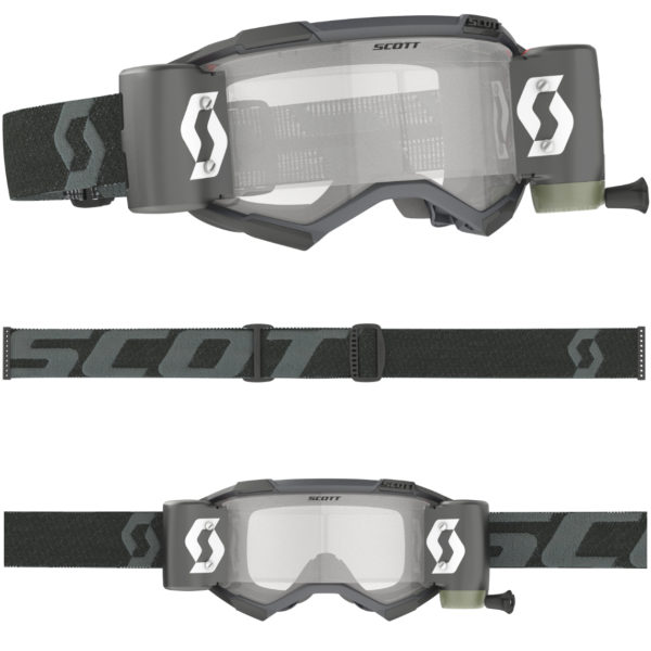 2021 Scott Fury WFS Roll Off Goggle Black - 2785960001113