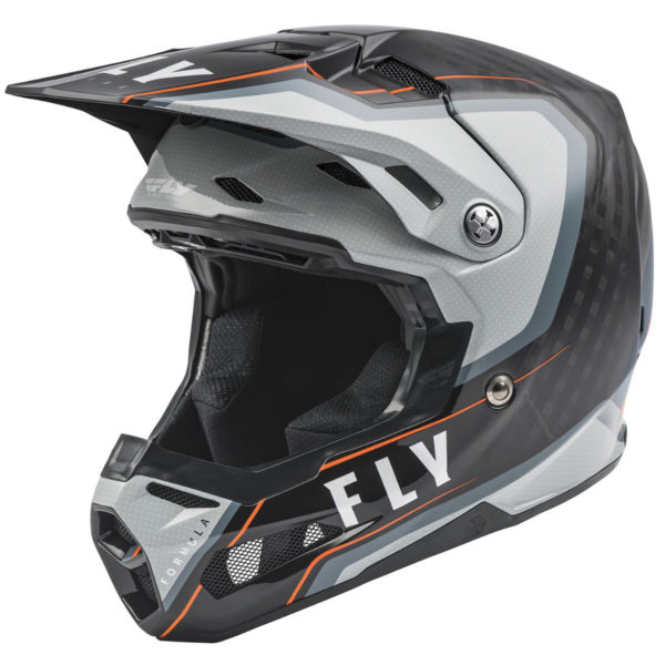 2021 Fly Formula Carbon Axon Helmet Black/Grey/Orange - 73 4428 0 Helmet Formula Axon 2021