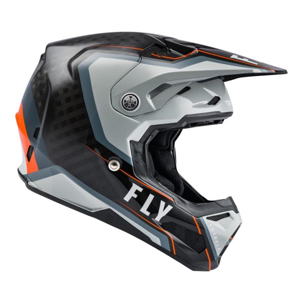 2021 Fly Formula Carbon Axon Helmet Black/Grey/Orange - 73 4428 3 Helmet Formula Axon 2021