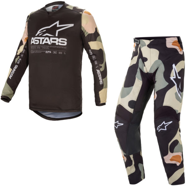 2021 Alpinestars Racer TACTICAL Kit Combo Desert Camo/White - A3761221872c