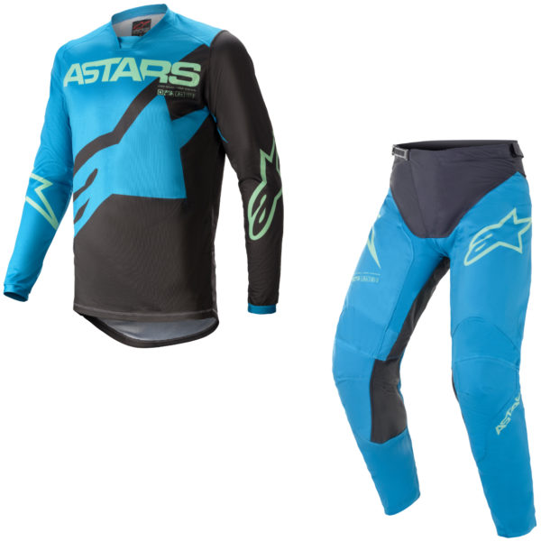 2021 Alpinestars Racer BRAAP Kit Combo Ocean Blue/Mint - A37614217116c
