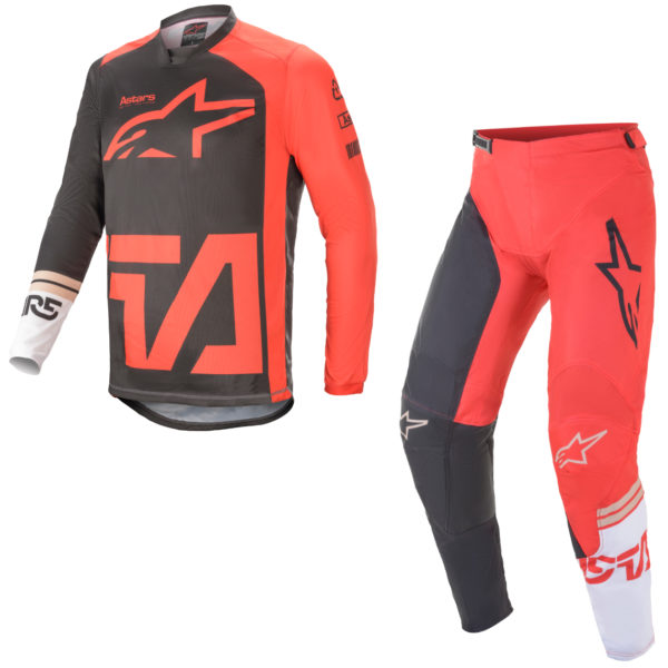 2021 alpinestars racer compass kit combo anthracite/red fluo/white - a37621211382c