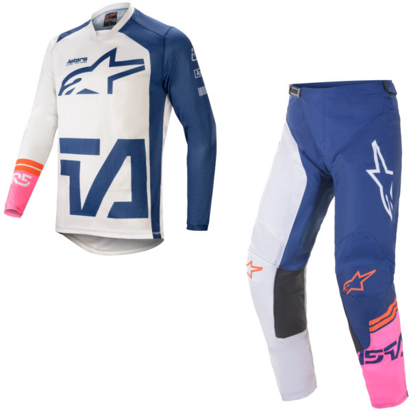 2021 alpinestars racer compass kit combo off white/navy/pink fluo - a37621212749c