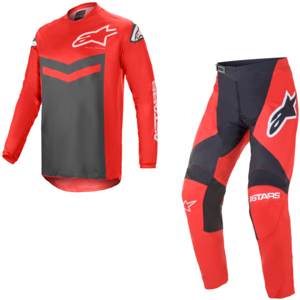 2021 Alpinestars Fluid SPEED Kit Combo Bright Red/Anthracite - A37626213011c
