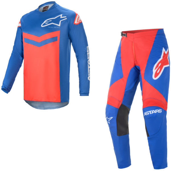 2021 Alpinestars Fluid SPEED Kit Combo Blue/Bright Red - A37626217103c