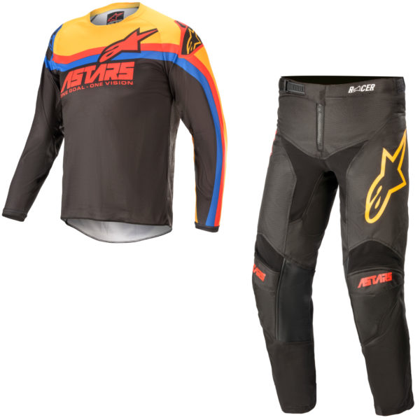 2021 Alpinestars YOUTH Racer VENOM Kit Combo Black/Bright Red/Orange - A37700211344c