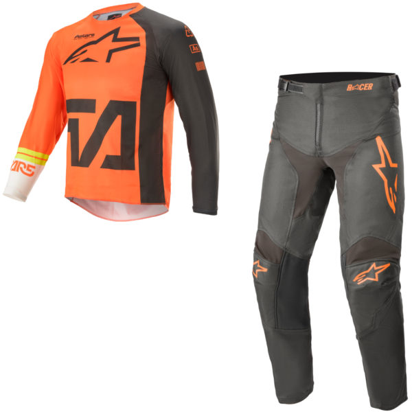 2021 Alpinestars YOUTH Racer COMPASS Kit Combo Orange/Anthracite/Off White - A37721214442c