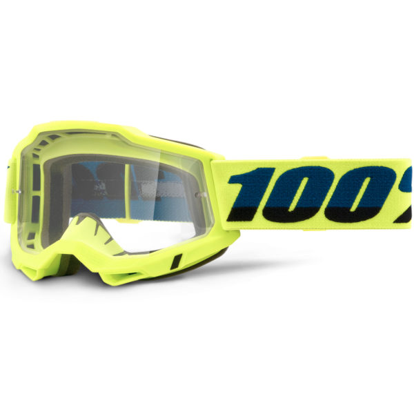 2021 100% Accuri 2 Goggle Fluo Yellow - Clear Lens - 50221 101 04 1