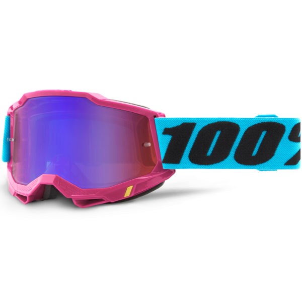 2021 100% accuri 2 goggle lefleur - red/blue mirror lens - 50221 254 09