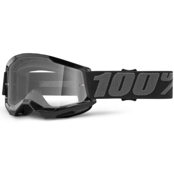 2021 100% strata 2 youth goggle black - clear lens - 50521 101 01