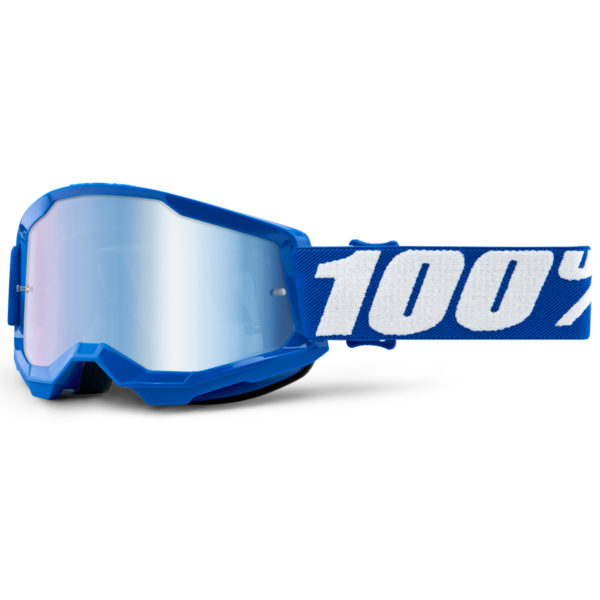 2021 100% strata 2 youth goggle blue - blue mirror lens - 50521 250 02