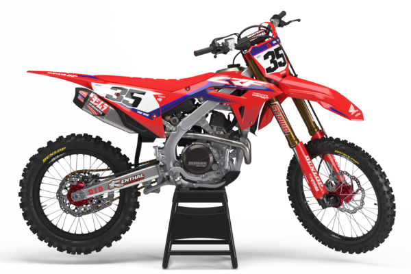 Honda Style MX Graphics Kit Privateer - crf Factory 0