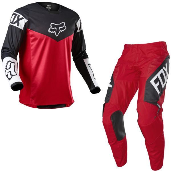 2021 Fox YOUTH 180 REVN Kit Combo Flame Red - 25762 122 c