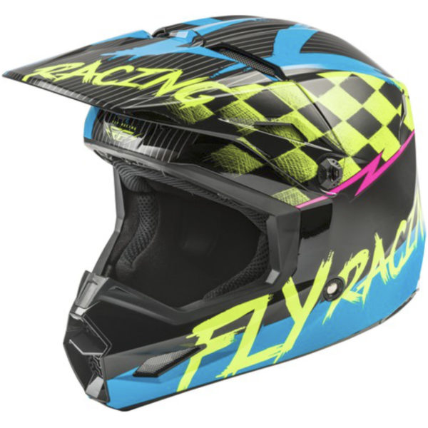 Fly Kinetic Sketch YOUTH Helmet Blue/Hi-Vis/Black/Pink - 59c9 5c86c6409dc9e
