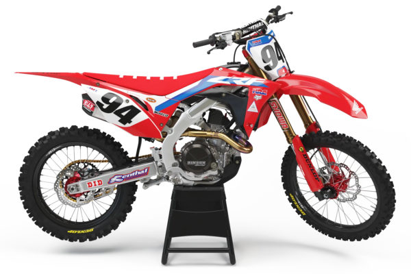 Honda Style MX Graphics Kit Factory Red - crf HRC