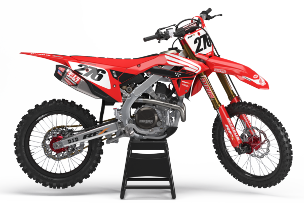 Honda Style MX Graphics Kit Nationals Red - crf RFX 0