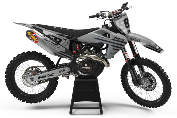Husqvarna Style MX Graphics Kit Nationals Grey - husky RFXGrey 0