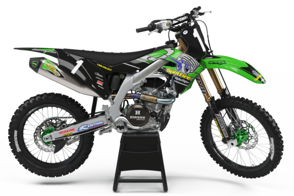 Kawasaki Style MX Graphics Kit Splitfire -