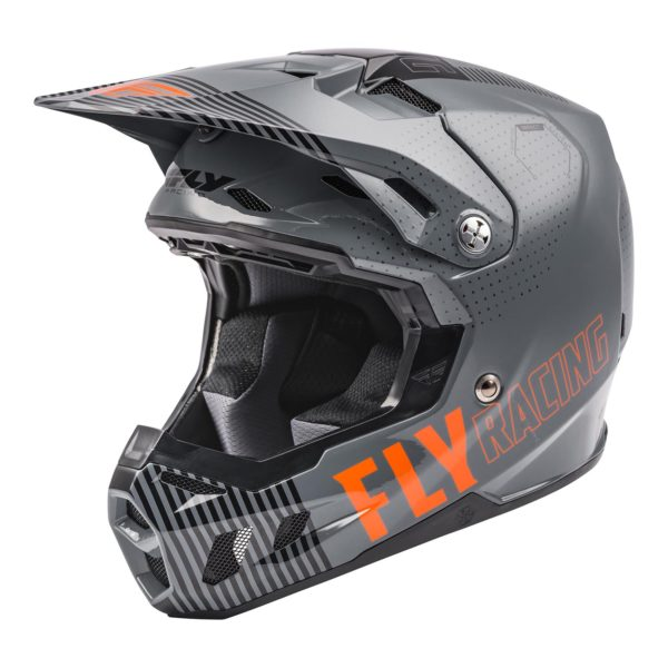 2021 Fly Formula CC Primary Helmet Grey/Orange - 73 4308 0 Helmet Formula CCPrimary 2021