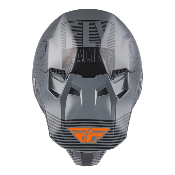 2021 Fly Formula CC Primary Helmet Grey/Orange - 73 4308 2 Helmet Formula CCPrimary 2021
