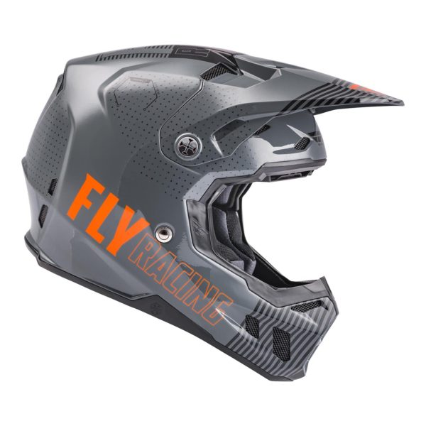 2021 Fly Formula CC Primary Helmet Grey/Orange - 73 4308 3 Helmet Formula CCPrimary 2021