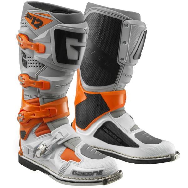 Gaerne sg12 motocross boots orange/grey/white - sg 12 orange grey