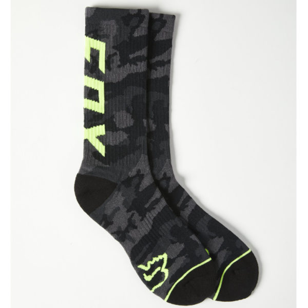 Fox camo cushioned crew sock - black camo - 27161 247 1