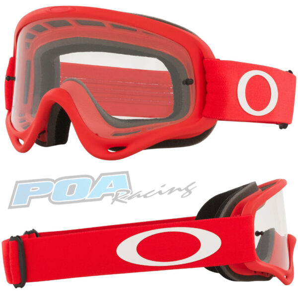 Oakley O Frame Goggle Moto Red - Clear Lens - 0OO7029 702963 030AC