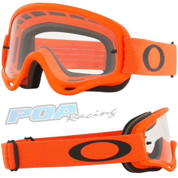 Oakley O Frame Goggle Moto Orange - Clear Lens - 0OO7029 702966 030AC
