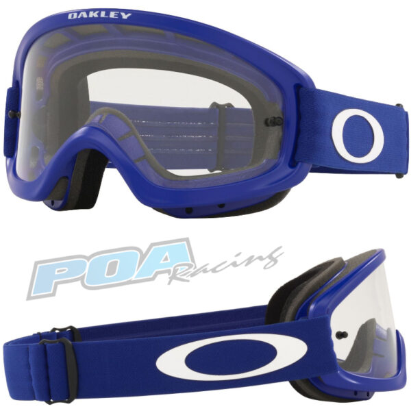 Oakley XS O Frame 2.0 PRO YOUTH Goggle Moto Blue - Clear Lens - 0OO7116 711613 030AC