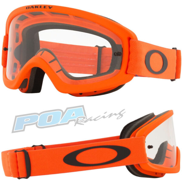Oakley XS O Frame 2.0 PRO YOUTH Goggle Moto Orange - Clear Lens - 0OO7116 711614 030AC